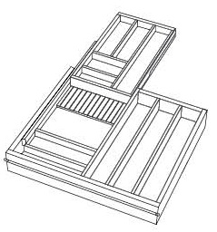 2-Tier Cutlery Combo Drawer