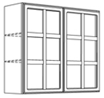 Mullion Door Finished Interior Wall Cabinet
