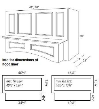 Wood Hood - 4 Panel Arched