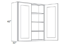 42'' High Double Door
