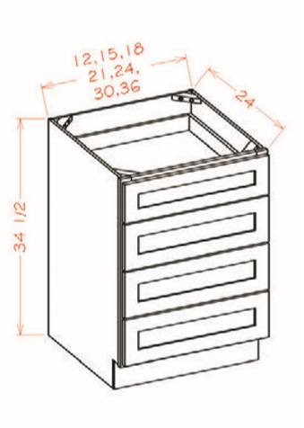 Four Drawer Pack Base