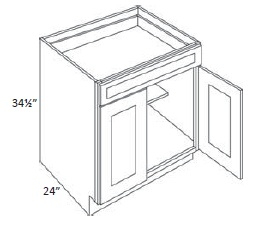 Double Door with Drawer(s) Base