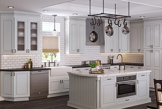 Kitchen Cabinets Classic Pewter