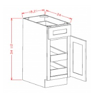 Single Door Double Rollout Shelf Base