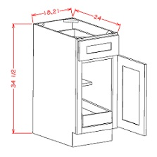 Single Door Single Rollout Shelf Base