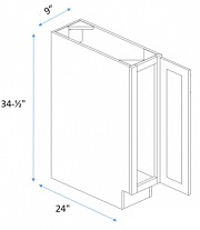 Single Full Height Door Base
