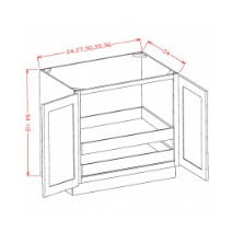 Full Height Double Door Double Rollout Shelf Bases