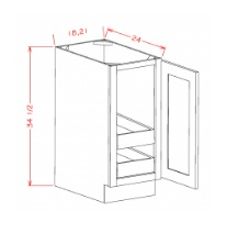 Full Height Single Door Double Rollout Shelf Bases