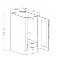 Full Height Single Door Single Rollout Shelf Base