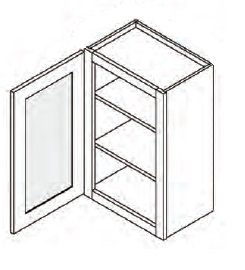 Cabinet with Glass Door (Single Door)