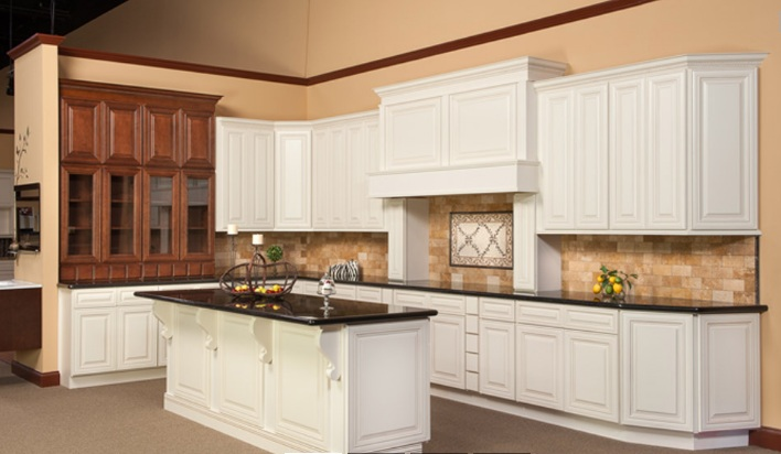 Kitchen Cabinets Polished Ivory
