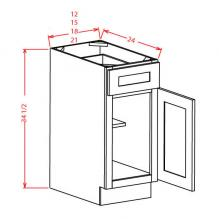 Single Door with Drawer Base