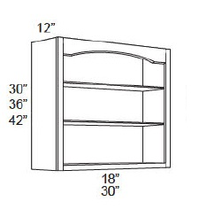 Wall Open Shelf