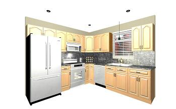 White shaker 10x10 discount kitchen package for Kitchen cabinet packages