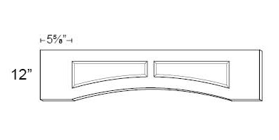 Arched Recessed Panel Valance