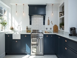 Kitchen Cabinets Blue Linen