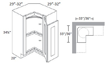 Easy Reach (with Lazy Susan) Corner Base Cabinet