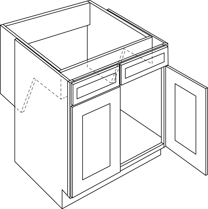 Double Door Handicap Removable Sink Base Cabinet
