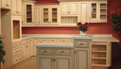 â Creamy White Rope Kitchen Cabinets In Miami Florida