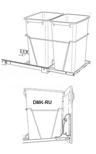 Double Trash Can Pull-Out (Metal Framing)