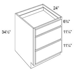 Drawer Pack Base - 3 Drawers
