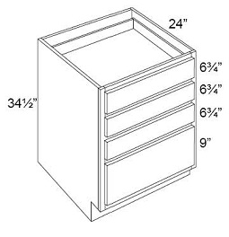 Drawer Pack Base - 4 Drawers