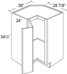 Easy Reach Base Corner Cabinet