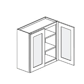 Cabinet with Glass Doors (Double Door)