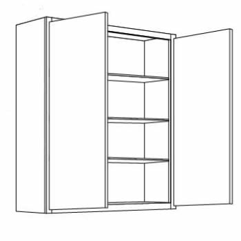 36'' High Double Door
