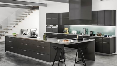 rta kitchen cabinets metro black