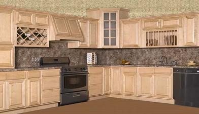 A Natural Birch Kitchen Cabinets In Miami Florida