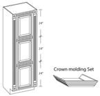 Nutone 1358 Cameo Oval Beveled Mirror Single Door Recessed