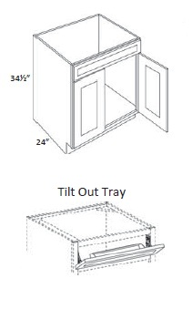 Single Drawer Double Door Sink Base