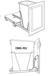 Single Trash Can Pull-Out (Metal Framing)