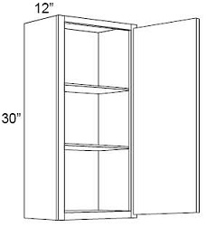 30'' High Single Door