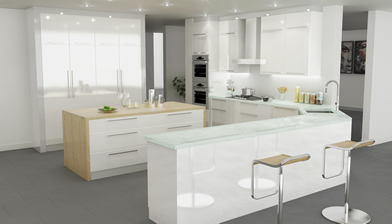 Soho White Kitchen Cabinets In Miami Florida
