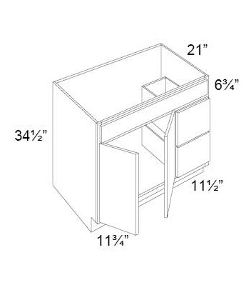 Double Door & Two Drawers Sink Base Vanity