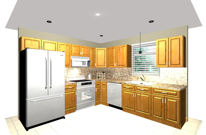 10x10 sample diagram for 10x10 kitchen ideas
