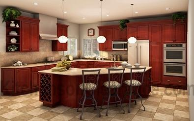 Buy Simplicity Cherry, Discount RTA Kitchen Cabinets