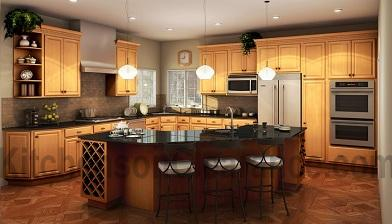Buy Simplicity Maple, Affordable RTA Kitchen Cabinets