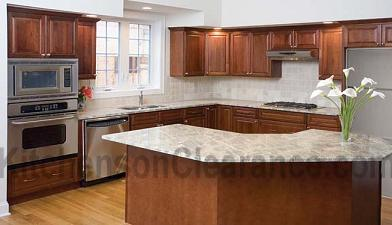 Buy Warwick Walnut, Affordable RTA Kitchen Cabinets